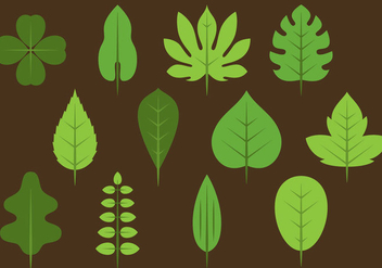 Green Leaves Icons - vector #378569 gratis