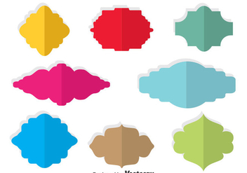 Colorful Blank Cartouche Vector - Free vector #378709