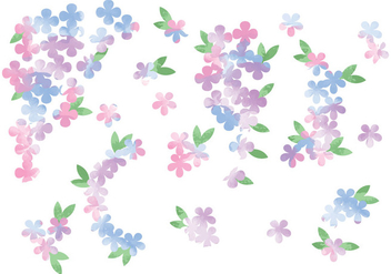 Vector Watercolor Flowers - бесплатный vector #378799