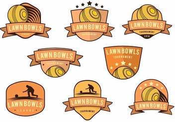 Lawn Bowls Badge Set - бесплатный vector #378929