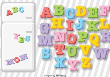 Vector Fridge Letter Magnets - Kostenloses vector #379009