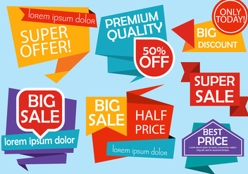 Free Origami Design Vector Labels - Kostenloses vector #379099