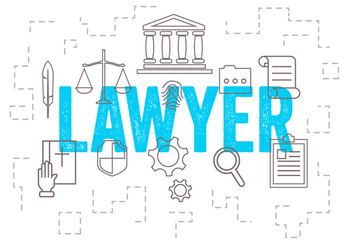 Vector Set of Lawyer Icons - vector #379339 gratis