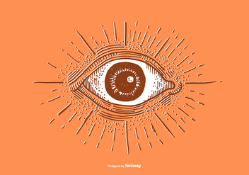 EYE BALL - LINE DRAWING - vector #379499 gratis