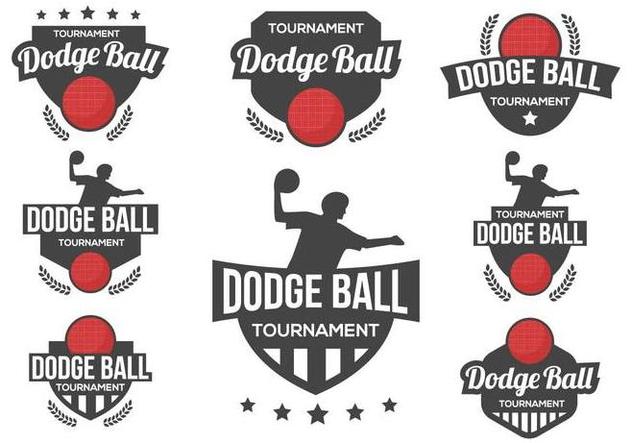 Free Dodge Ball Logo Vector - vector gratuit #379609