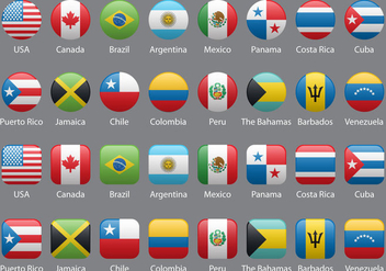 Americas Flags - vector #379699 gratis