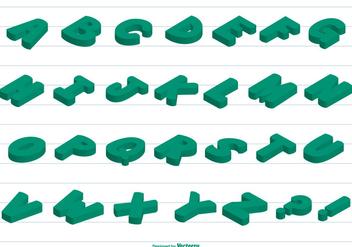 3D Vector Alphabet - Free vector #379729
