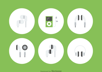 Free Ear Buds Vector Icons - Free vector #379779