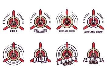 Free Biplane Propeller Logo Vector - Free vector #380119