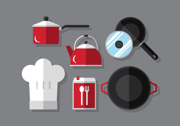 Vector Cooking Set - vector #380389 gratis
