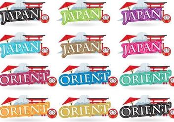 Japan Titles - vector #380579 gratis