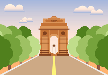 India Gate Illustration Vector - бесплатный vector #380619