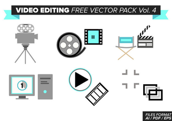 Video Editing Free Vector Pack Vol. 4 - vector #380779 gratis