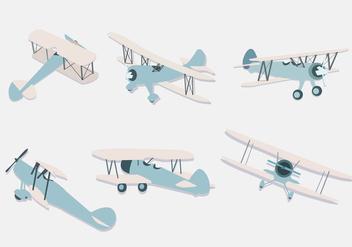 Biplane Illustration Vector - Free vector #380789