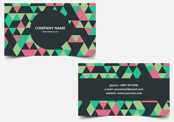 Free vector Colorful Business Card - Kostenloses vector #380819