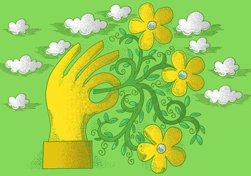 Hand Drawn Flower Vectors - vector gratuit #380839