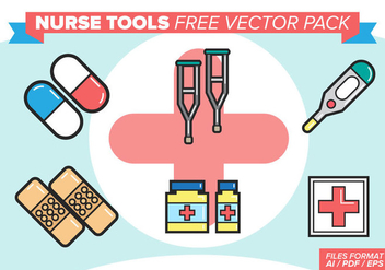 Nurse Tools Free Vector Pack - vector #381199 gratis