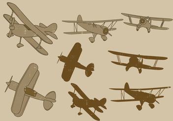 Vector Biplane Set - Free vector #381559