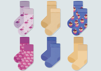 Vector Socks Collection - Kostenloses vector #381629