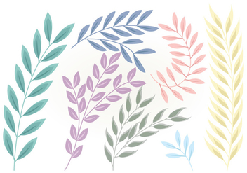 Vector Floral Branches - Free vector #381699