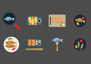 Free Fish Dishes Vector - vector gratuit #381759