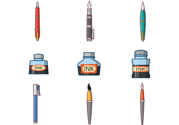 Free Ink Pen Vector - vector #381799 gratis