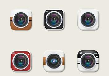 Cameras Vector - Kostenloses vector #381909