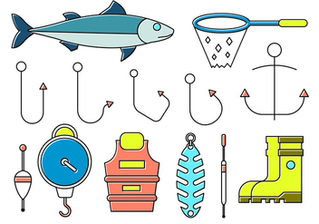 Free Fishing Icons - vector #382549 gratis