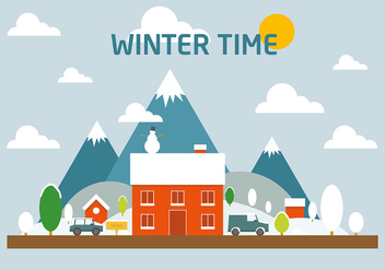 Free Winter landscape Vector - бесплатный vector #382579