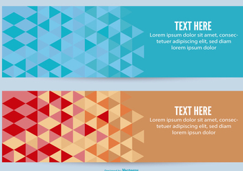 Abstract Vector Banners - vector gratuit #382679