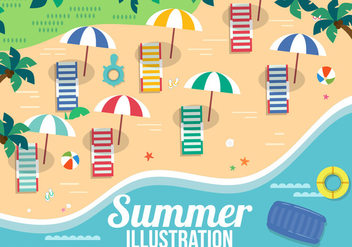Free Vector Summer Elements - Kostenloses vector #382689