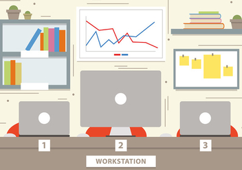 Free Marketing Workstation Vector Illustration - vector gratuit #382759