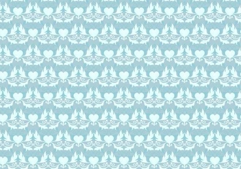 Sky Blue Vector Western Flourish Pattern - Free vector #382829