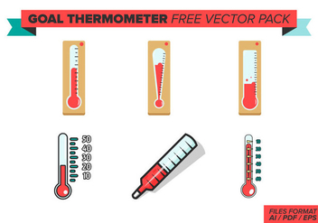 Goal Thermometer Free Vector Pack - Free vector #382939