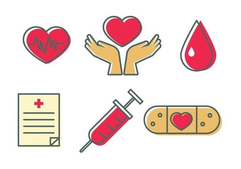 Blood Drive Icons - vector #382969 gratis
