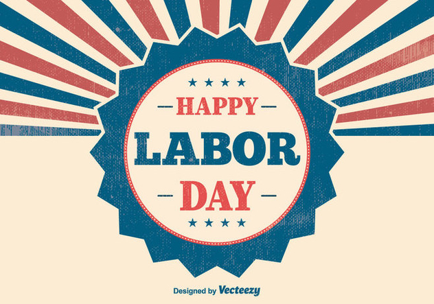 Retro Labor Day Illustration - Free vector #383039