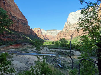 Losing the Sun, Virgin River, Zion NP 2014 - бесплатный image #383109