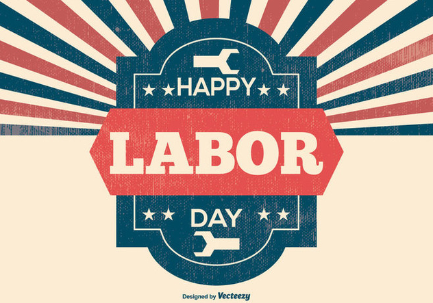 Retro Labor Day Illustration - Free vector #383129
