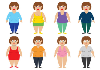 Fat Women Vector - Free vector #383149