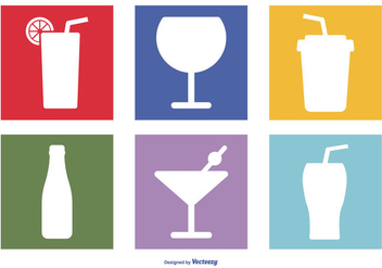 Assorted Drinks Icon Set - бесплатный vector #383249