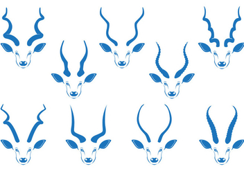 Kudu Horn Vector Stock - бесплатный vector #383259
