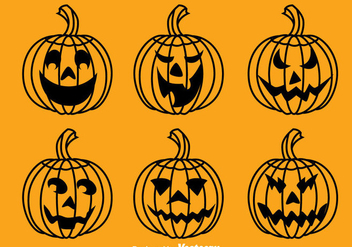 Halloween Pumpkin Collection Vector - Free vector #383369