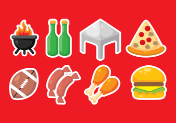 Tailgate Party Vector Icons - Free vector #383379