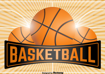 Basketball Emblem Template - Vector - Free vector #383409