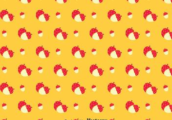 Lychee Orange Pattern - Kostenloses vector #383629
