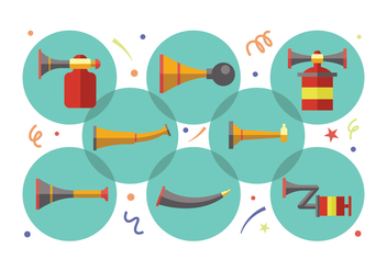 Vuvuzela Icons - Free vector #383689