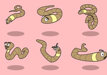 Cartoon Earthworm Vector - Kostenloses vector #383699