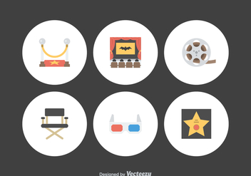 Free Flat Movie Vector Icons - Kostenloses vector #384089