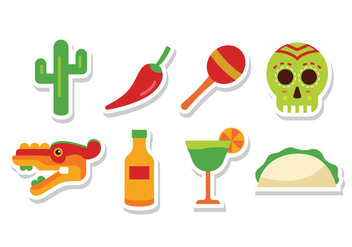 Free Flat Mexico Icons - Kostenloses vector #384219