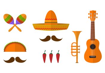 Mariachi Icon Vector Set - vector gratuit #384249